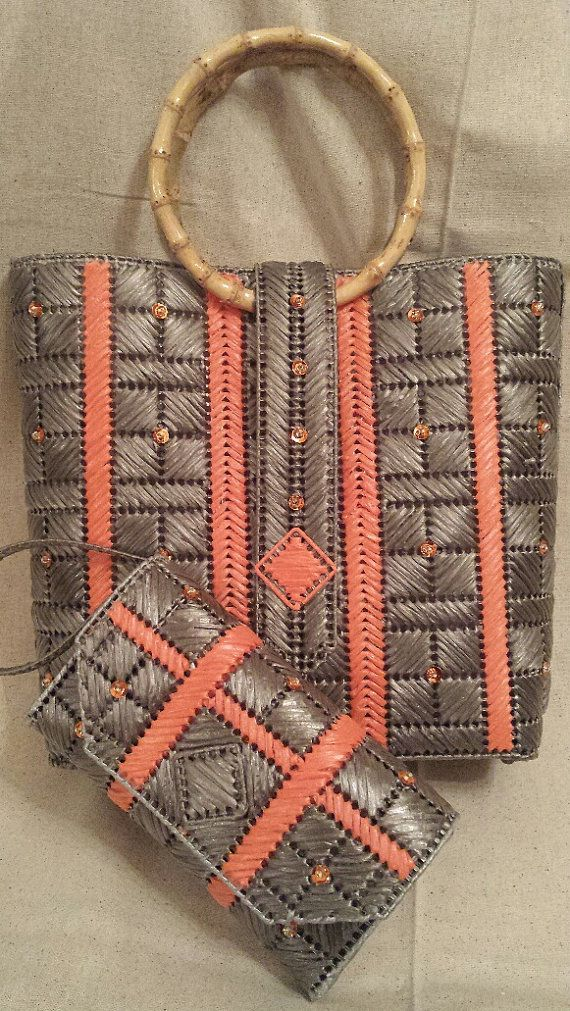 Corals Raceway An Helena Sassy Handbag by HelenaSassyBags on Etsy