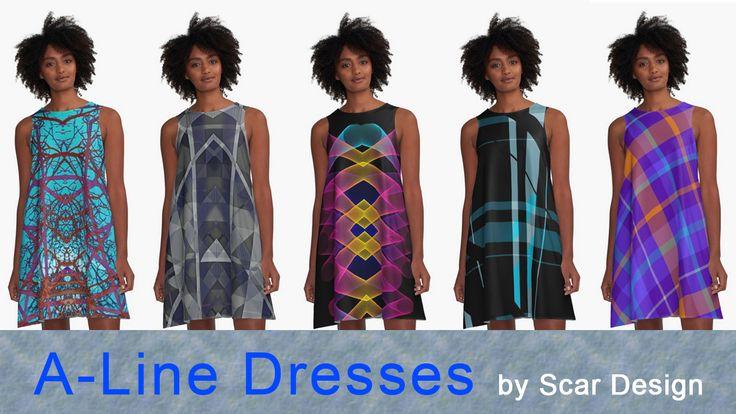 A- Line Dresses by Scar Design. #dress #fashion #style #giftsforher #family #women #woman #alinedress #modern #redbubble #scardesign #art #artist #shopping #online