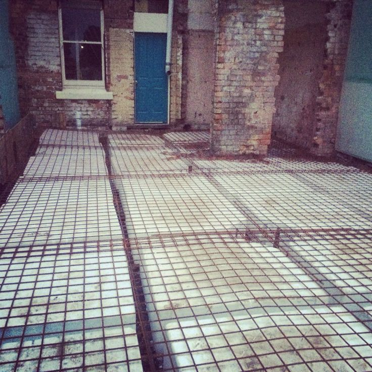 Hydronic heating pipes in on the waffle pods. Ready for concrete.