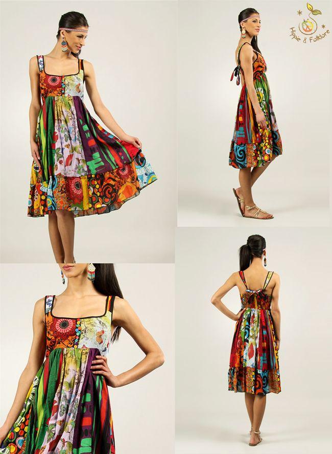 ॐ Rochie hippie curcubeu @Haine Hippie   www.hainehippie.ro/59-rochii-sarafane  Transport gratis la 2 produse comandate din categoriile haine si genţi