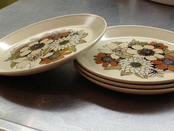 Johnson of Australia  floral pattern set of four plates by modernlookvintage, $32.00