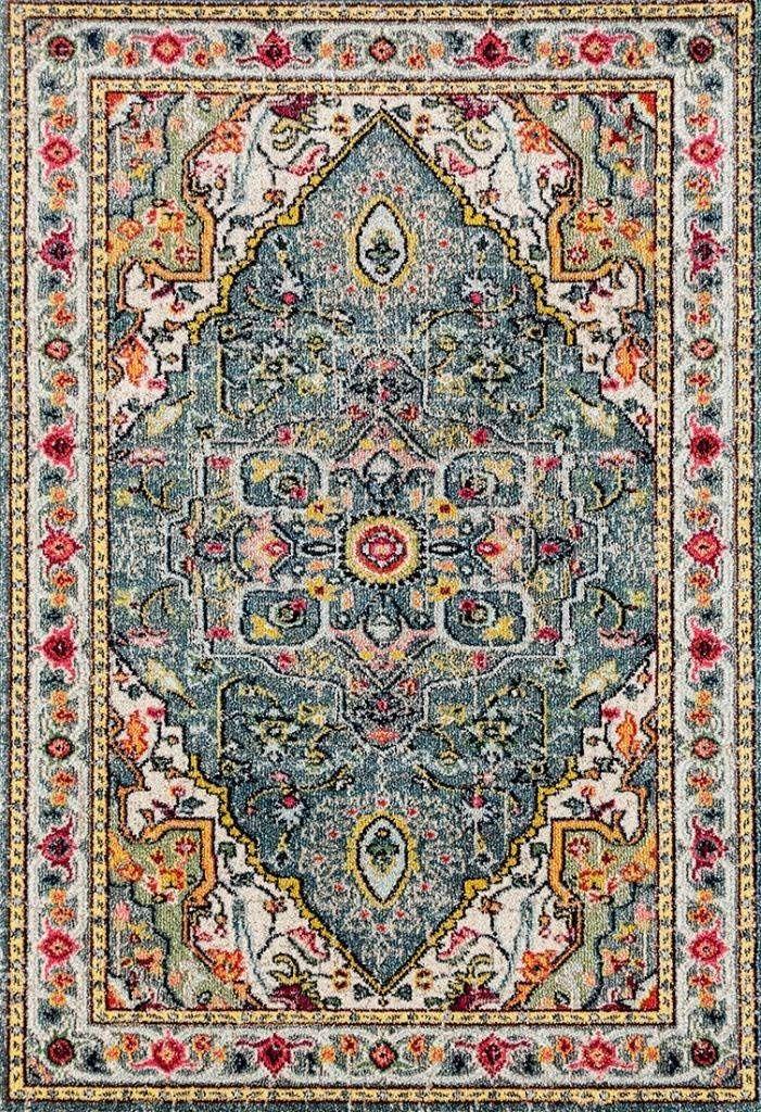 Amazon Com 514 Blue Bohemian 8 X 10 Area Rug Carpet Home Kitchen Rugs On Carpet Persian Area Rugs Area Rugs