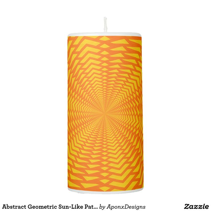 Abstract Geometric Sun-Like Pattern Candle
