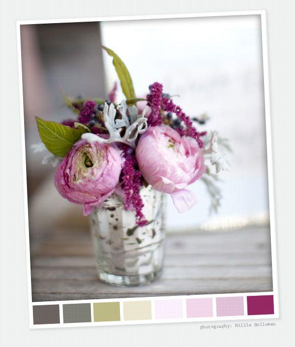 .Ideas, Mercury Glasses, Colors, Flower Arrangements, Beautiful Flowers, Glasses Vases, Pretty Flower, Peonies, Purple Flower