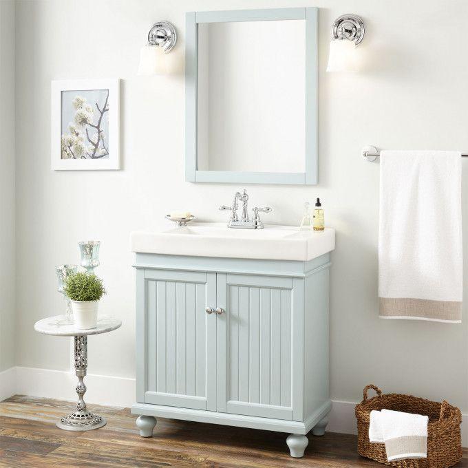 30 Lander Vanity Cabinet And Sink Sage Green Home Depot Bathroom Vanity Bathroom Vanity Designs Unique Bathroom Vanity
