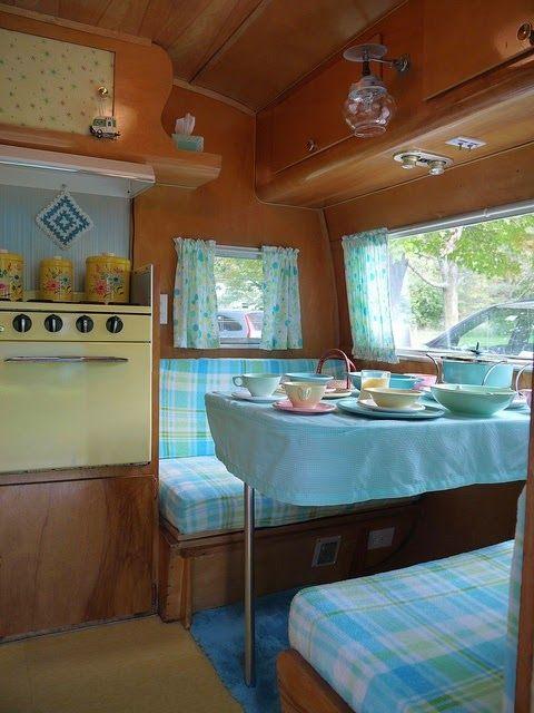 Retro Caravaning Camper InteriorTrailer