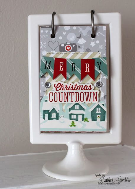 "Merry Christmas Countdown Calendar for @Xyron Inc. Inc.'s 30 Days of Holiday Projects by DT Member Heather Conklin. Uses Xyron Mega Runner & 9"" Creative Station and American Crafts and Studio Calico products."