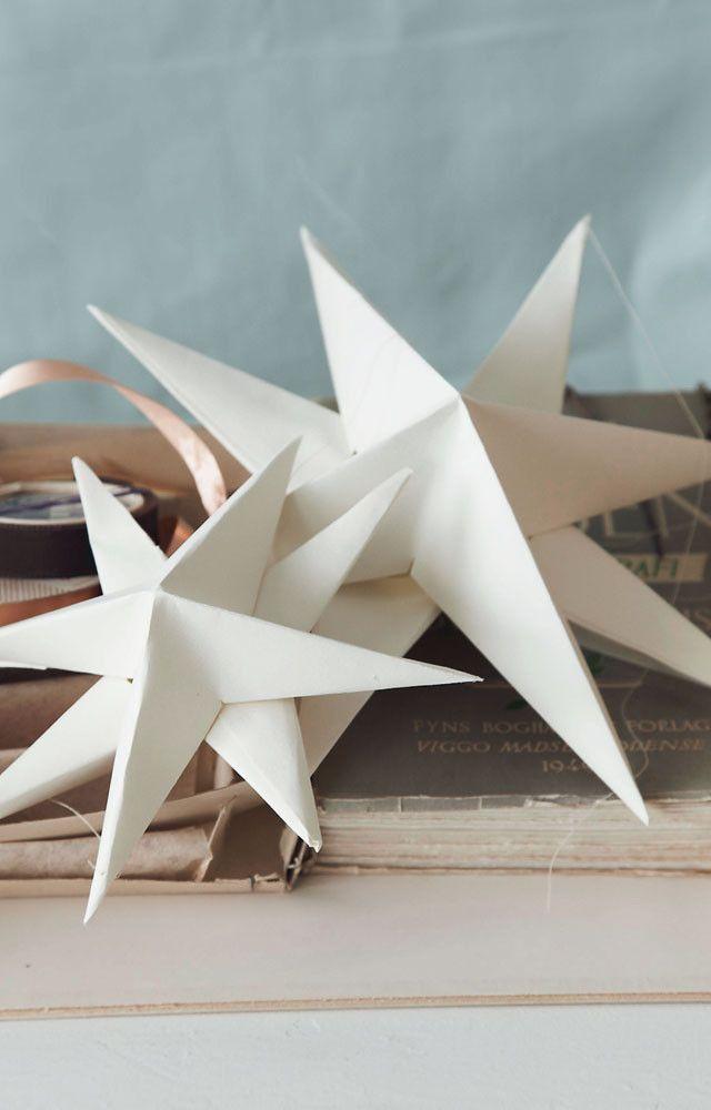 DIY: paper 3D christmas star