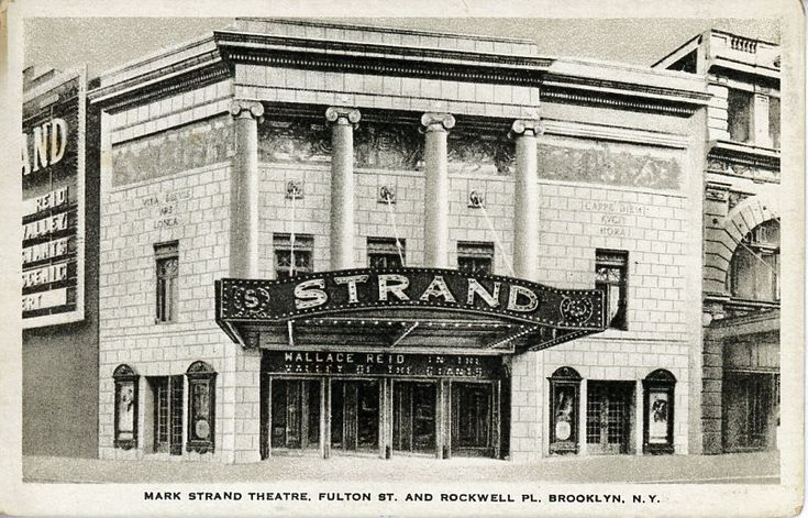 """One of the most wonderful theatres in the world"" Postcards from the Theatre Talks Collection #theatretalks #strand #brooklyn #theatre"