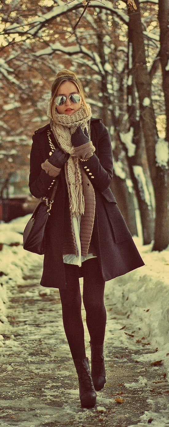I know it's a little early for this but whatevs...Lovely Winter Street Style Fashion In Black