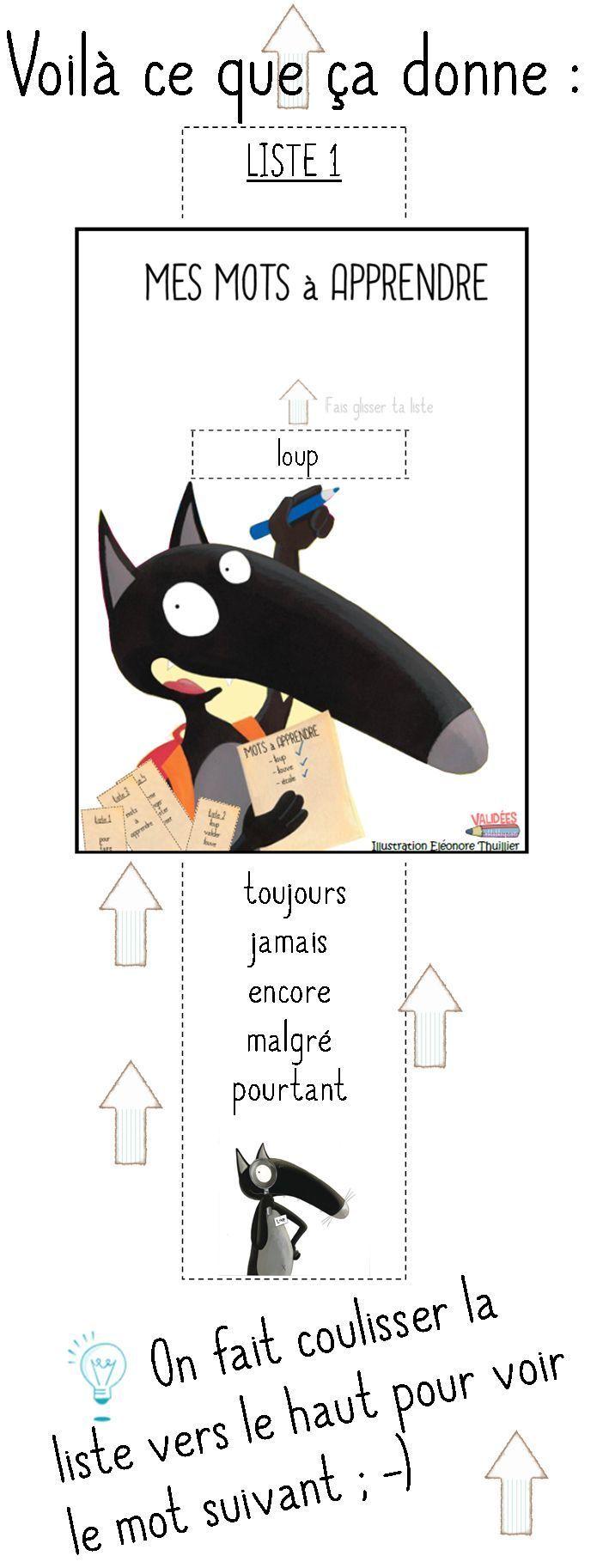 French reading practice. Mots à apprendre