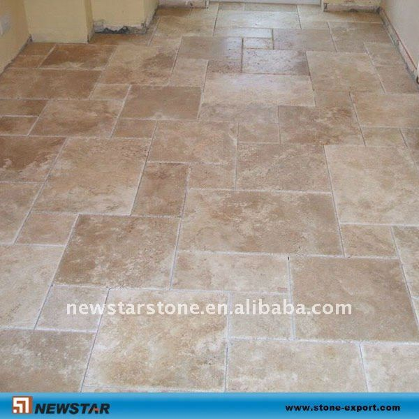 Large versailles tile pattern home retreat pinterest for Best grout color for travertine tile