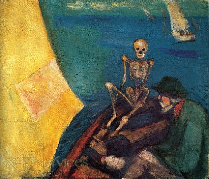 Edvard Munch - Tod am Ruder - Death at the helm.