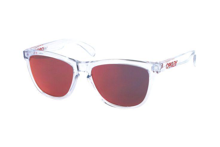 Oakley Frogskin OO9013 A5 Sonnenbrille in polished clear | Manche Sonnenbrillen schützen Ihre Augen, andere schützen Ihr Image. Oakley-Sonnenbrillen schützen Beides. Ein Stil für jeden Geschmack, mit der Technologie für jeden Bedarf. Sonnenbrillen für jede Situation.Gönnen Sie sich eine...