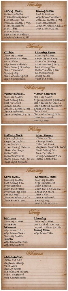 Get your house cleaning schedule organized with this handy FREE printable planner from Blessed Messes WOW! So many of you are repinning this! Thank you! If you want a different version, let me know.