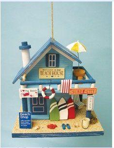 Hand Made Wooden Beach House Birdhouse Birdhouses  #BeachHouses  #Birdhouses  #Birds