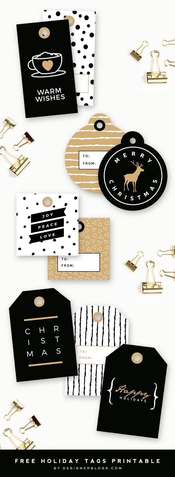 Holiday Gift Tags Printable | Christmas Gift Tags - Designer Blogs