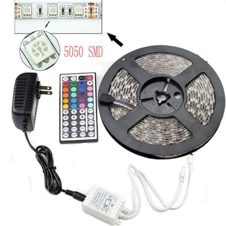 casung 5m164ft smd color changing rgb led strip light water resistant ip65
