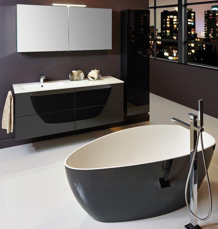 #Detremmerie #badkamermeubel No Limit: een serie waarbij je zelf alles samenstelt, onderbouwmeubel los van wastafelblad, wastafelblad in kunstmarmer, porselein of laminaat met opbouwwaskommen.