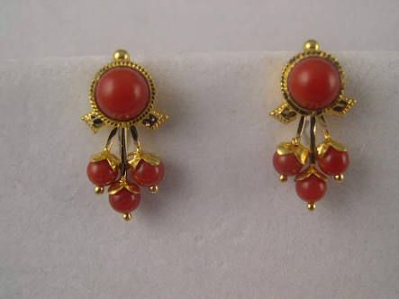 coral earrings indian jewelry - Google Search