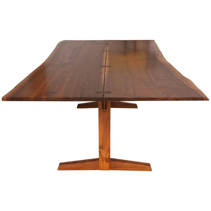 George Nakashima Trestle Dining Table With Rosewood