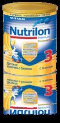 Нутрилон 3 Джуниор сухой молочный напиток для детей банановый 400г  — 390р.  Детское молочко Nutrilon® Junior 3 - предназначено для питания детей с 12 месяцев.  Цифра «3» в названии молочной смеси означает, что продукт предназначается для питания детей с 12 месяцев.  В каких случаях используется детское молочко Nutrilon® Junior 3* Premium.  Вашему малышу исполнился год. Он активно растет, делает первые самостоятельные шаги и учится общаться с окружающим миром. Иммунная система малыша…