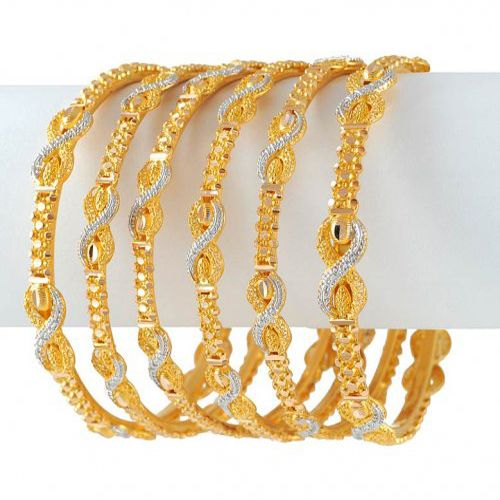 Latest Gold Bangles Designs For Women 2012 Fashionzworld.