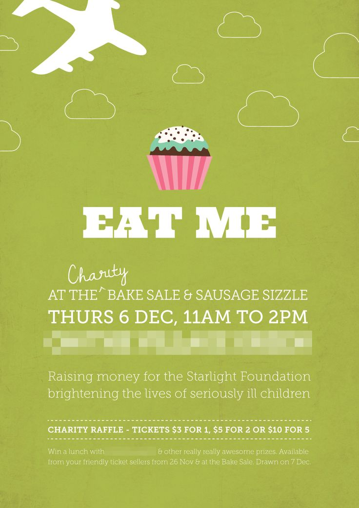 17 best images about bake sale poster ideas on Pinterest