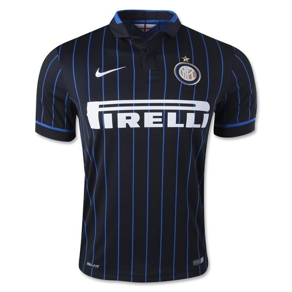 Men's 2014/15 Inter Milan Black/Blue Home Soccer Jersey