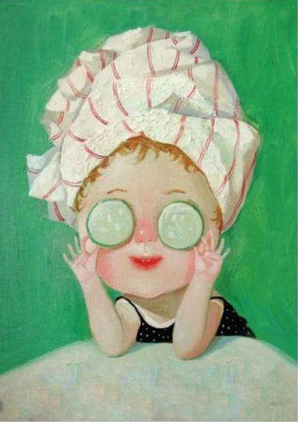 Eugenia Gapchinska ♡ cucumber mask