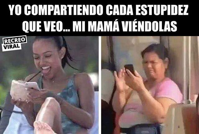Mi Jefa Sin Saber Como Reaccionar Mama Meme Foto