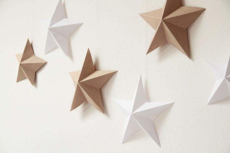 Návod na papírové hvězdy, vánoční dekorace / Free pattern for christmass decoration made from paper - stars