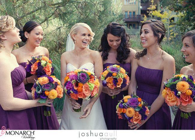 Stunning Burnt Orange And Purple Wedding Photos - Styles & Ideas ...