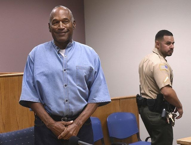 O.J. Simpson was granted parole on Thursday after serving nearly nine years in prison for a 2007 armed robbery in Las Vegas. The 70-year-old Simpson could be released as early as October 1. By then he will have served the minimum of his nine-to-33-year sentence for a bungled attempt to snatch sports memorabilia he claimed had been stolen from him. During the more than hourlong hearing on live TV Simpson was by turns remorseful jovial and defensive heatedly insisting the items taken in the…