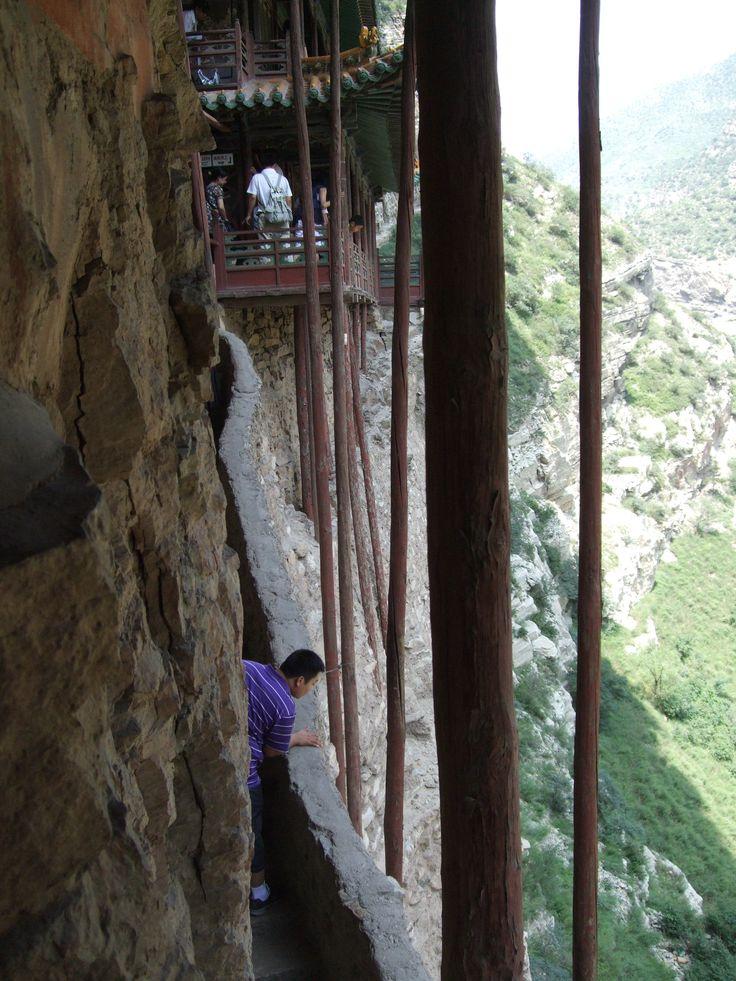 hanging monastery support beams, near Datong, China