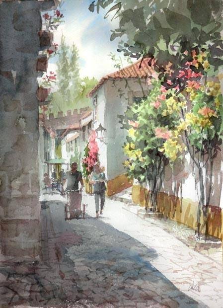 Watercolor by Takashi Akasaka/Japan