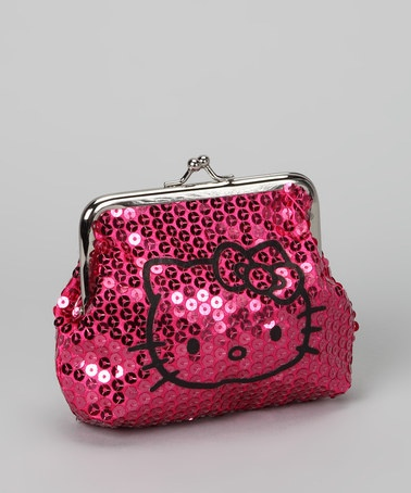 Take a look at this Hello Kitty Pink Sequin Coin Purse by Hello Kitty & Harajuku Lovers on #zulily today!