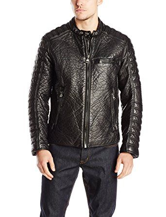 Marc New York by Andrew Marc Men s Broadway Bubble Faux-Leather Jacket With  Liner Review 8136955e5