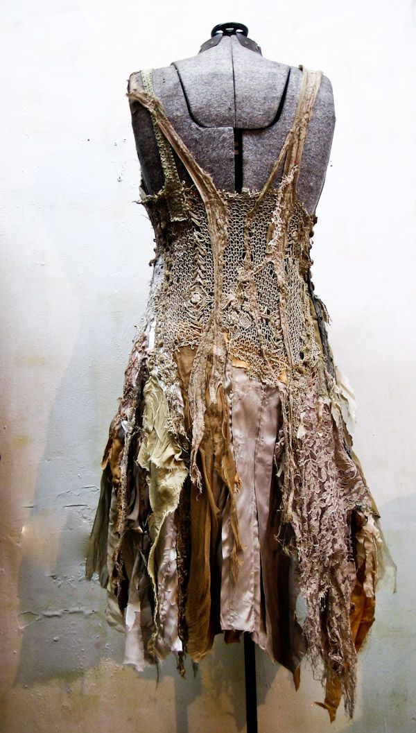Beautiful earthy textured scrappy dress by Gibbous ♥ I love Gibbous too