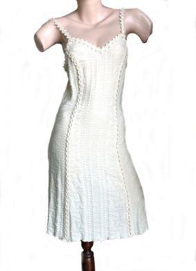 Leichtes #Sommerkleid, 100% #ökologische Pima #Baumwolle, knielang.