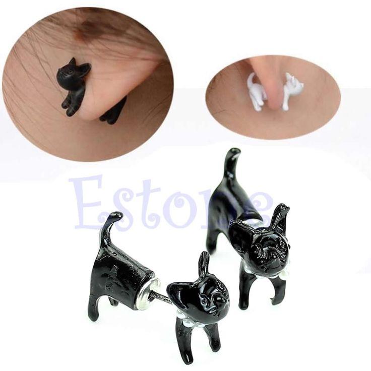 0.84$  Buy here - A40 1Pc Fashion Women Men Pearl Leopard Lovely Cute Cat Ear Stud Piercing Earring Jewelry   #magazineonline