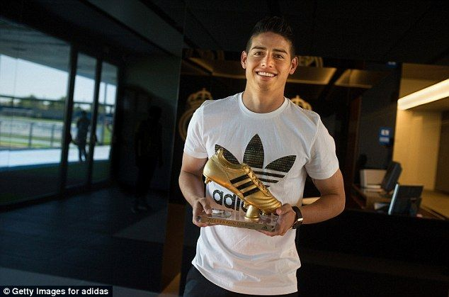 Award: James Rodriguez's six goals were enough to make him the first Colombian to win the ...