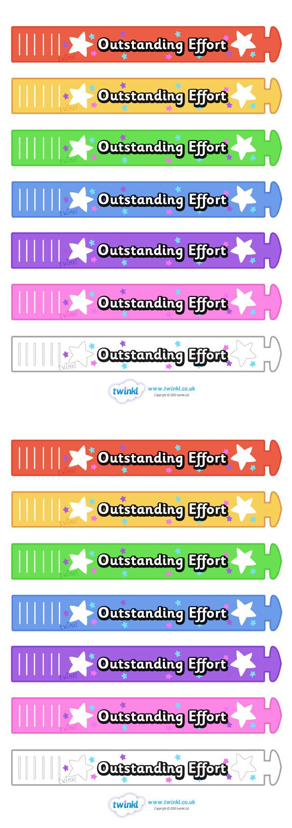Twinkl Resources >> Wristband Awards Outstanding Effort  >> Thousands of printable primary teaching resources for EYFS, KS1, KS2 and beyond! wristband, band, award, reward, certificate, medal, rewards, school reward, star of the day, outstanding effort,