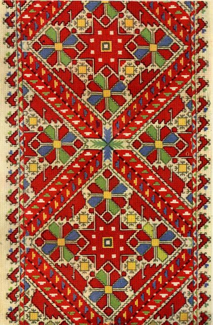 FolkCostume&Embroidery: Embroidery of Sofia Area, Shope region, Bulgaria