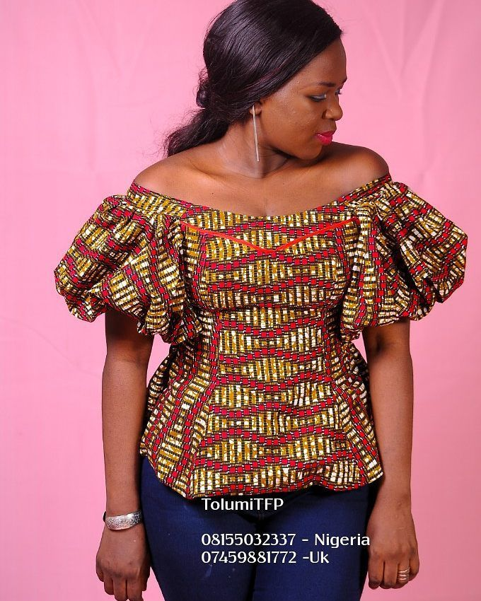 """199 Likes, 7 Comments - Tolumi Abiola O. (@tolumitfp) on Instagram: """"More pieces for you to shop. Sizes from 6- 20. It's an Ankara Prints off shoulder top.. Wear it…"""""""