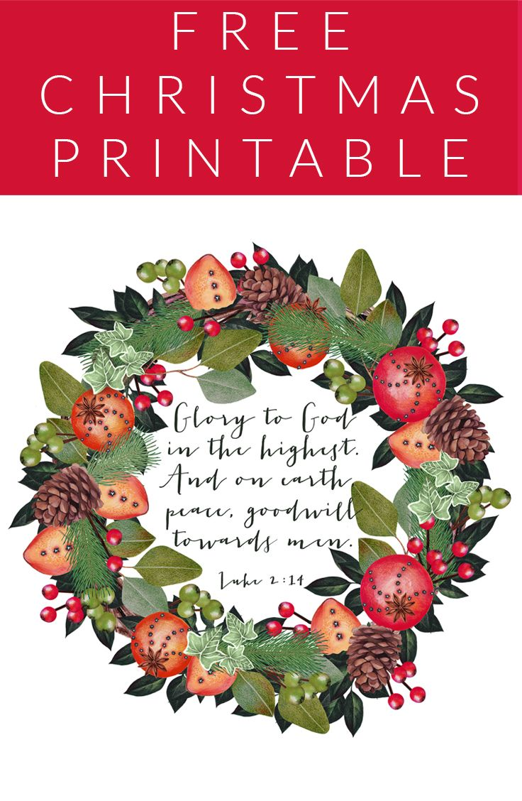 FREE CHRISTMAS PRINTABLE!!!                                                                                                                                                                                 More