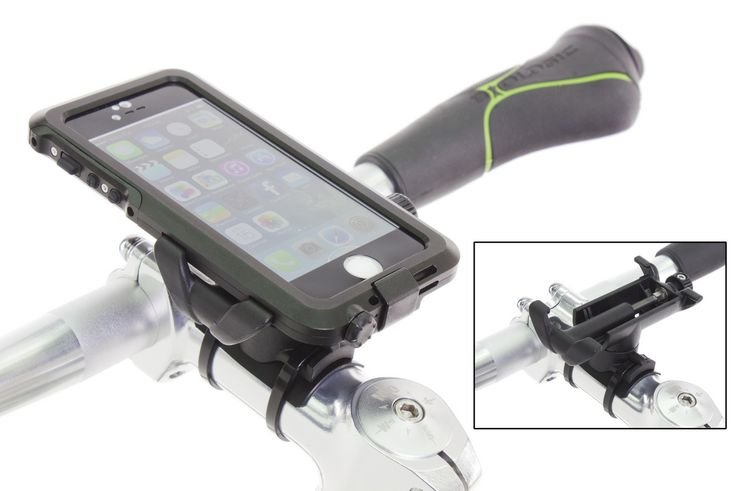 The BioLogic AnchorPoint bar mount can mount cases like the BioLogic Hard Case to bicycle handlebars. http://www.thinkbiologic.com/products/anchorpoint-bar-mount