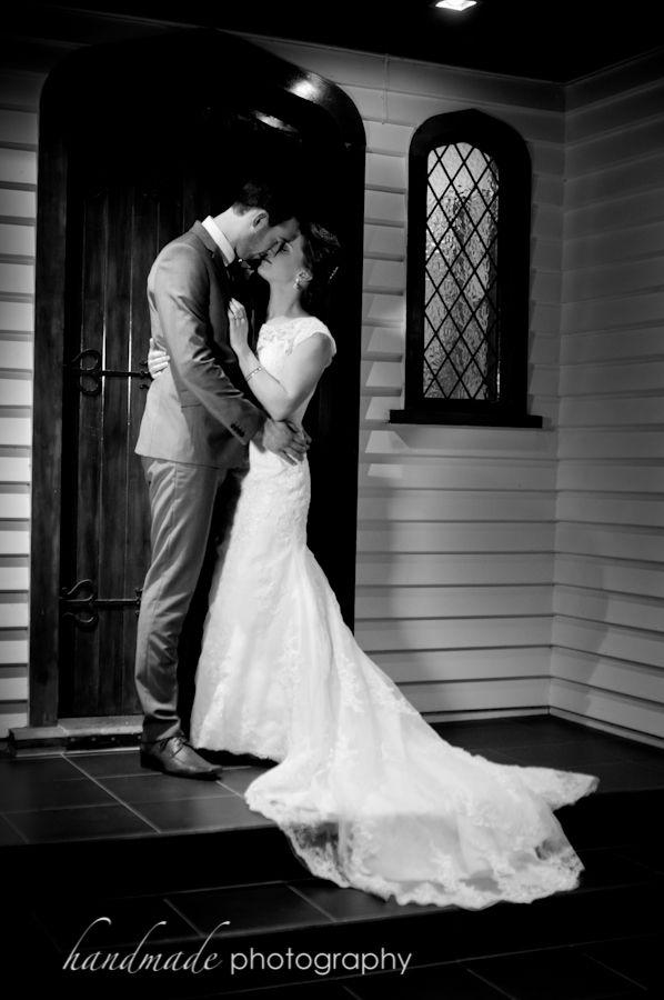 Door way at Newbery with Bride and Groom