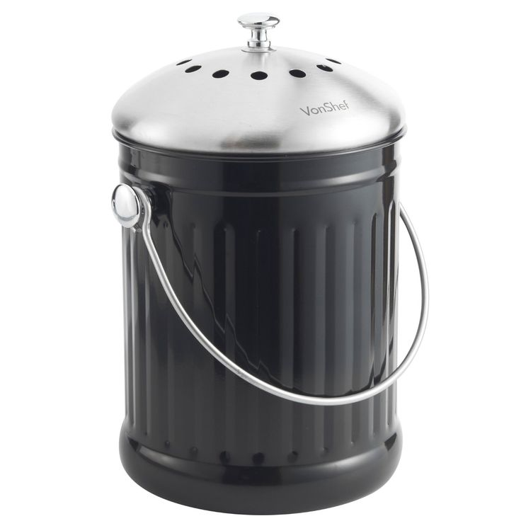 how to use stainless steel compost bin