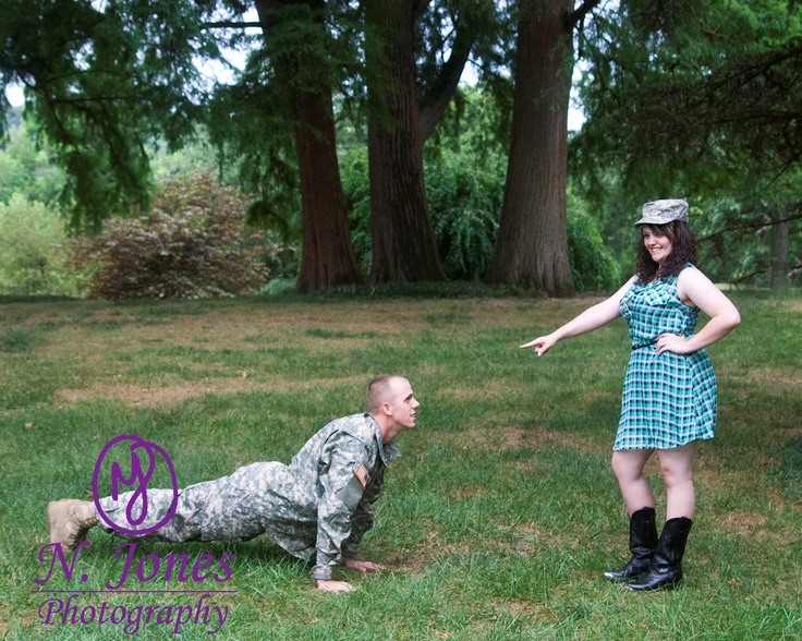 Our Engagement Picture :) #army #engagement #cowgirl #soldier